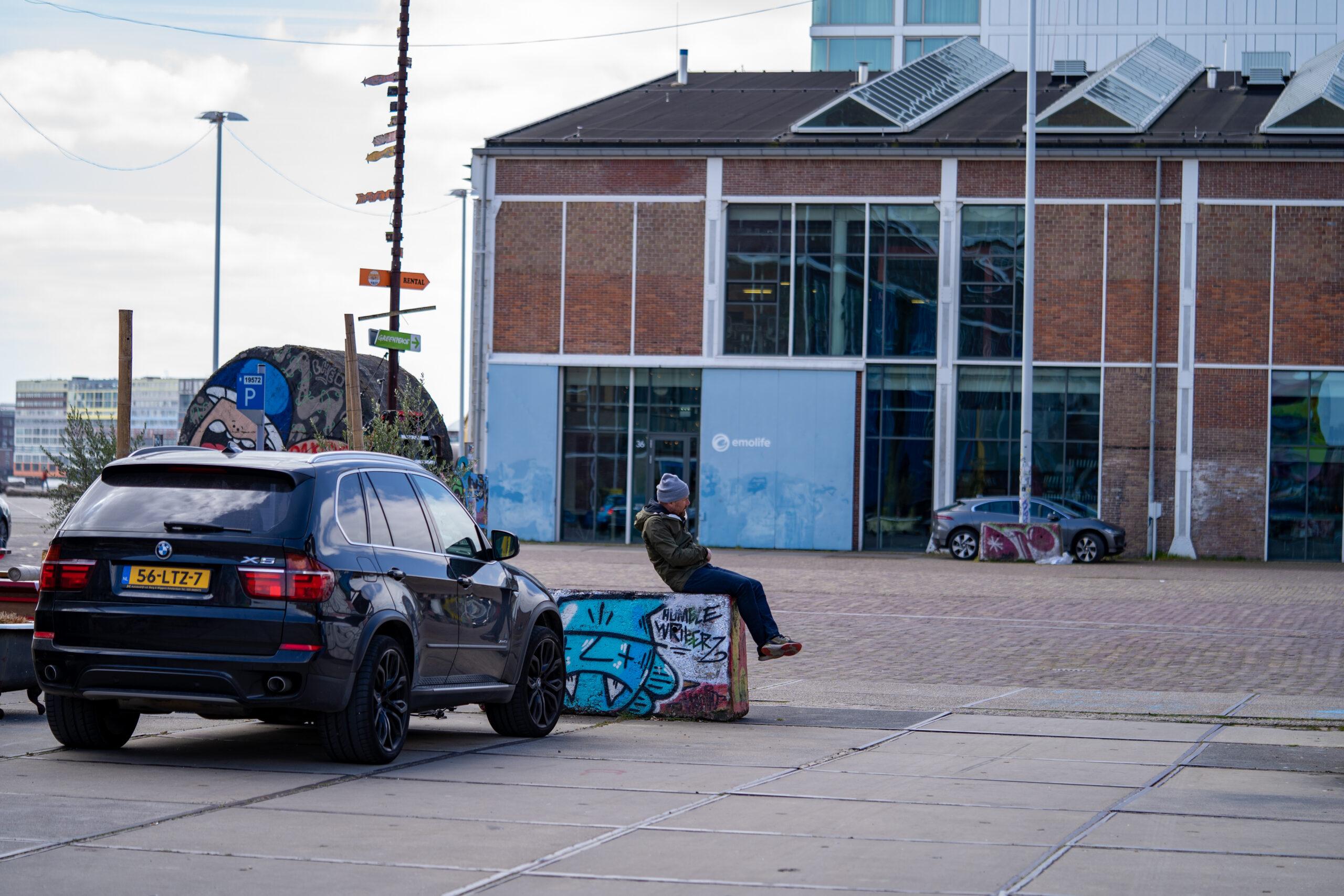 Peter Becker lente.shoot bij NDSM-werf in Amsterdam